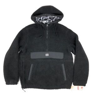 Levis 1/2 Zip Sherpa Fleece Pullover Hooded Jacket